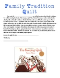 Family Tradition Quilt Note and Template