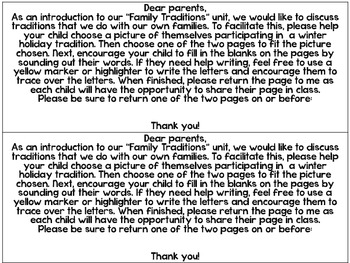 Family Traditions Class Book Pages