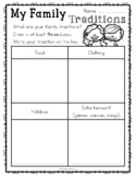 Family Traditions Printable {FREE}