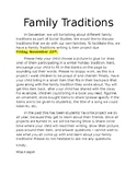 Family Traditions Project