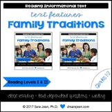 Family Traditions • Reading Comprehension Passages and Questions • RL I & II