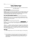 Family Traditions Recipe Project