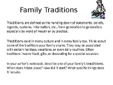 Family Traditions Writing Prompt