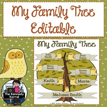 Family Tree {Handwritten Tree or Computer Editable Tree}