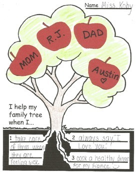 Family Tree Apple Activity: I help my family tree when I...
