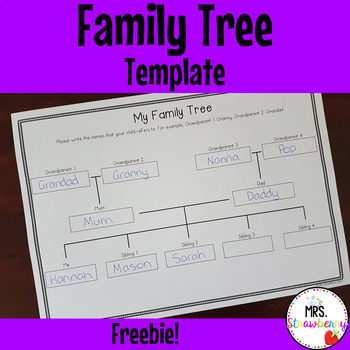 Family Tree Grid Template