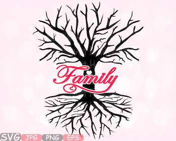 Family Tree Love SVG Word Art quote clip art wall hearts r
