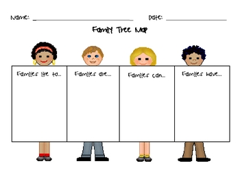 Family Tree Map for Early Writers