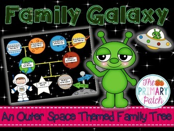 Family Tree Craftivity: Outer Space Themed Three-Generation Family Galaxy
