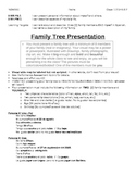 Family Tree Presentation Project