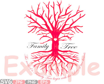 Family Tree SVG Word Art family quote clip art love of two hearts love -532s