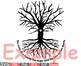 Family Tree Silhouette clipart love two hearts Studio3 family love roots 532as