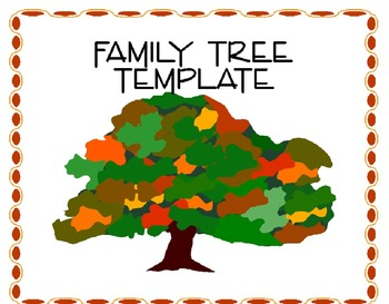 Family Tree Template Teaching Resources Teachers Pay Teachers