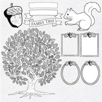 Family Tree Template Clip Art