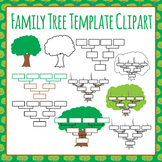 Family Tree Templates Clip Art for Commercial Use