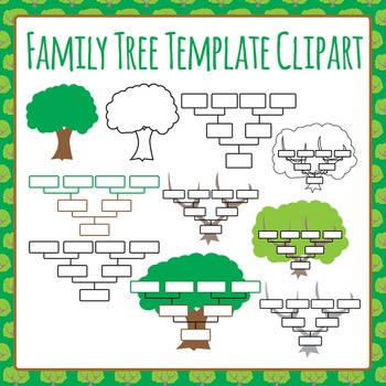Family Tree Templates Clip Art For Commercial Use By Hidesys Clipart