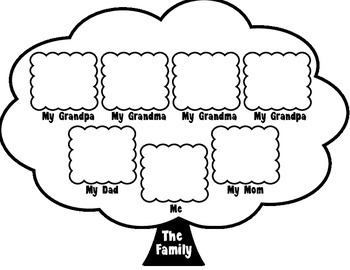 Family Tree Worksheet by Fantastic in First Grade | TpT