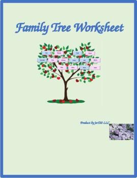 Family in English Family tree Worksheet 2