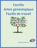 Famille (Family in French) Family Tree Worksheet 2