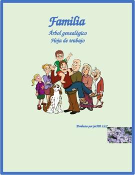 Familia (Family in Spanish) Family tree Worksheet 1