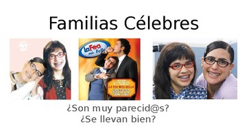 Family Trees Practice for Students. Arboles familiares. Practice Celebrities