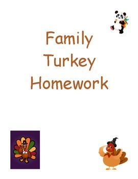 Family Turkey Homework