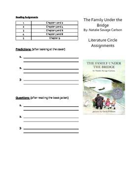 """Family Under the Bridge"" Literature Guide"
