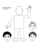 Family Unit Man Template w/ Three Head Choices