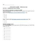 Family Unit Test Student Answer Sheet plus letter writing task