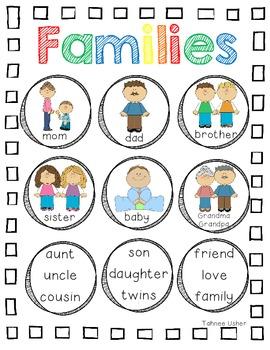 Family Unit Vocabulary