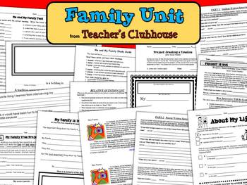Family Unit from Teacher's Clubhouse