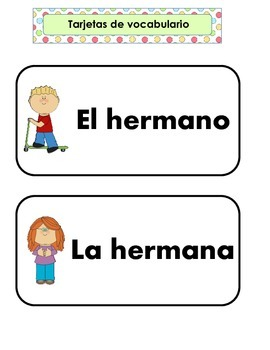 Family Unit in Spanish