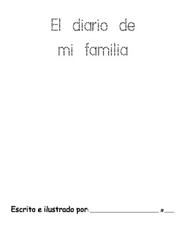 Family Unit in Spanish-Writing Journal