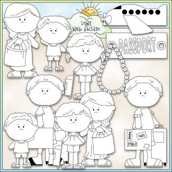 Family Vacation 1 - Commercial Use Clip Art & Black & White Images
