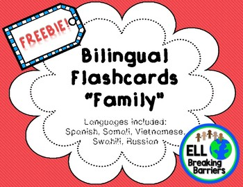 Bilingual Family Flashcards in Different Languages