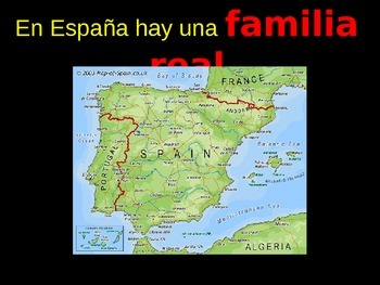 Family Vocab using The Royal Family of Spain and Royal Family  Tree Activity
