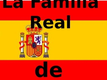 Family Vocab using The Royal Family of Spain and Royal Fam