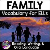 Family Vocabulary Activities ESL - for Beginning ELLs