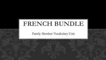Family Vocabulary : Bundle of 12 items