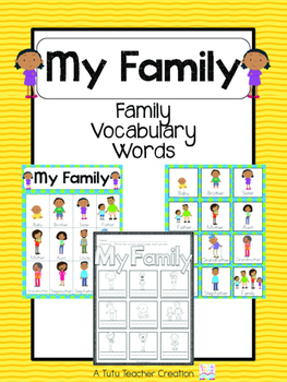 African American Family Vocabulary Cards