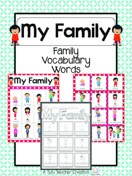 Asian Family Vocabulary Cards