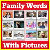 Family Word Wall Cards