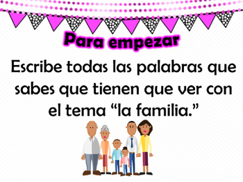 Family Vocabulary Lesson & Game for Upper Level/AP Spanish
