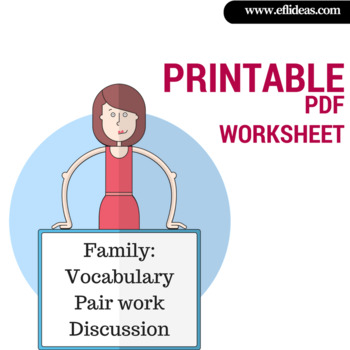 Family: Vocabulary, Pair work, Discussion