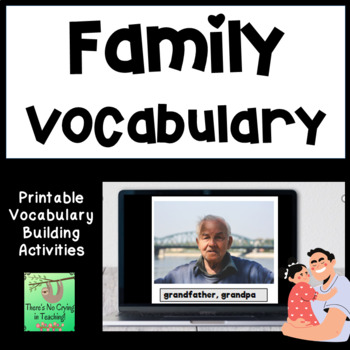 Family Photo and Vocabulary Word Cards