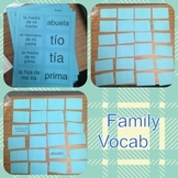 Family Vocabulary Practice Memory Game - La Familia