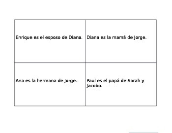 Family Vocabulary (Spanish)