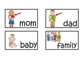 Family Vocabulary Word Wall Cards