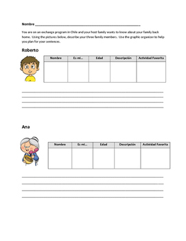 Family Vocabulary Writing Activity 2