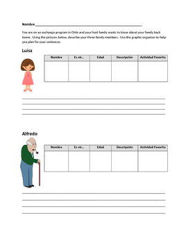 Family Vocabulary Writing Activity